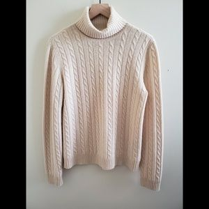 Ralph Lauren 100% Cashmere Cable Sweater Size L